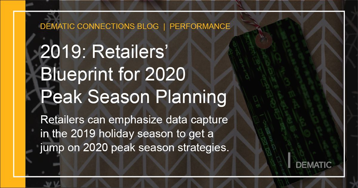 Retailers can emphasize data capture in the 2019 holiday season to get a jump on 2020 peak season strategies